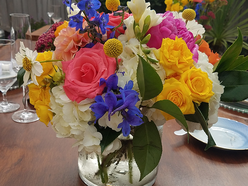 Featured Arrangement of Fresh Flowers Wrapped to Go